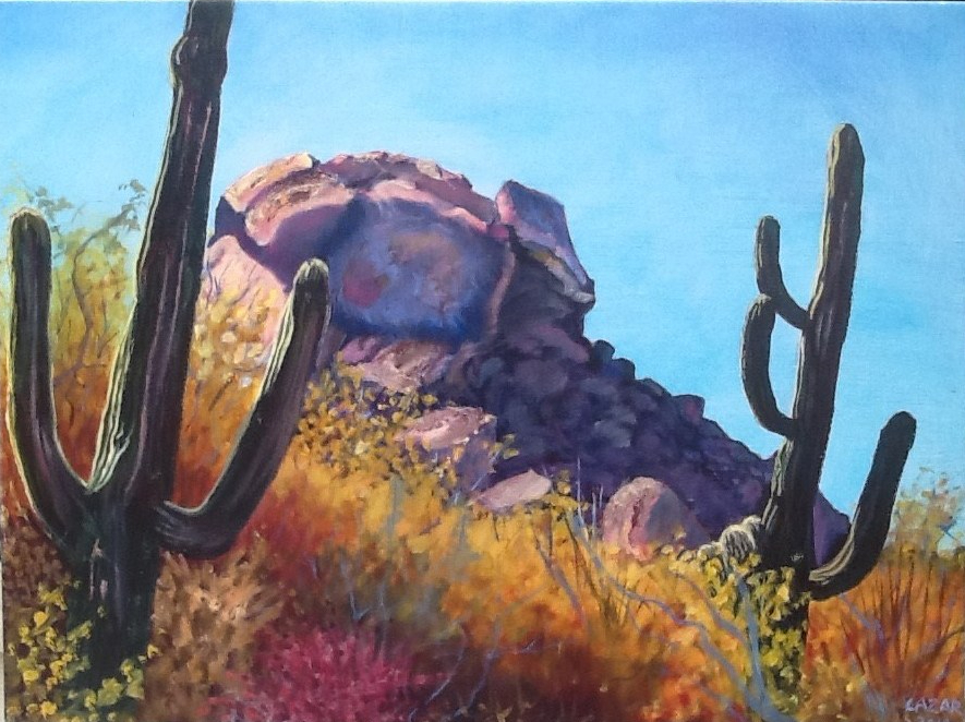 Phoenix artist brings Arizona wonders to life in her studio